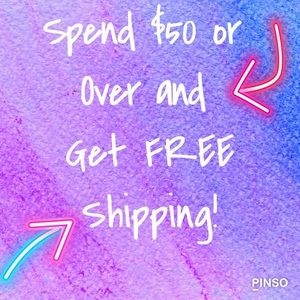 Free Shipping On Orders 50 & Over